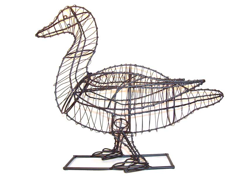 Frame Duck Topiary, 19 x 21 x 11