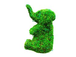 Elephant Frame Topiary with Moss 16 inches tall