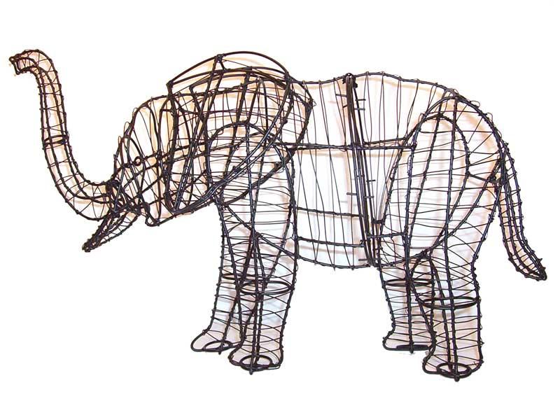 Elephant Frame Topiary, 32 x 48 x 17