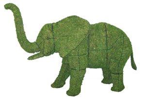 Elephant, 19 inch  (Mossed) 19 inch  x 27 inch  x 9 inch