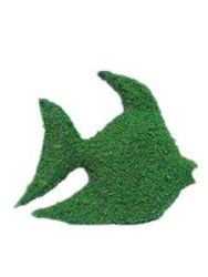 Fish Frame Topiary with Moss 12 inches tall
