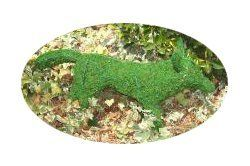 Fox Frame Topiary with Moss 13 inches tall