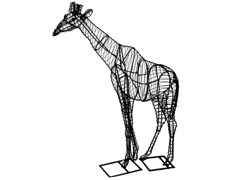 giraffe frame topiary  168 x 111 x 40  yes 14 feet tall