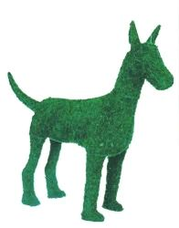 Great Dane Frame Topiary with Moss 12 inches tall