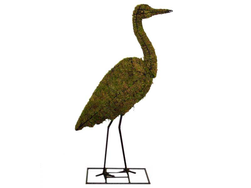 Heron, 40 inch  (Mossed) 40 inch  x 23 inch  x 10 inch