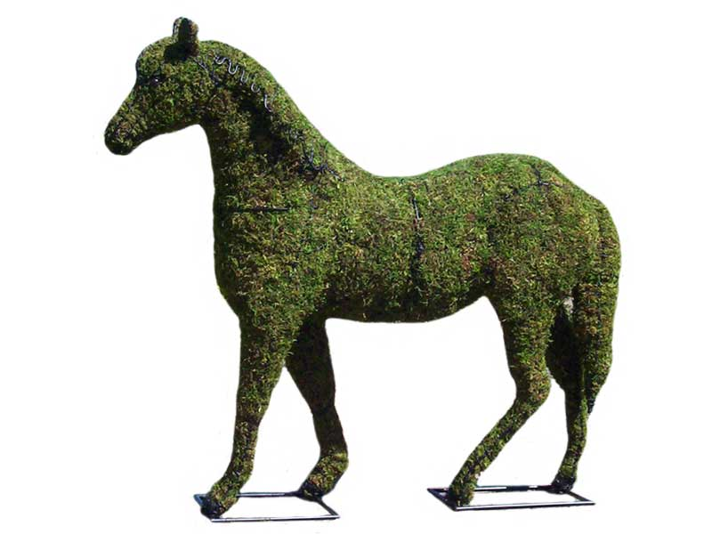 Horse Topiary Frame Mossed, 17 inch  x 17 inch  x 20 inch  x 5 inch