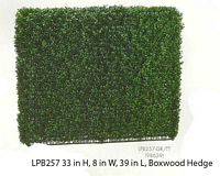 33 inch Height by 8 inch Wx39 inch L Boxwood Hedge Two Tone Green