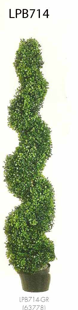 4 feet Pond Boxwood Spiral Topiary in Plastic Pot Green
