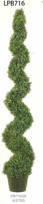 6 feet Knock Down Pond Boxwood Spiral Topiary in Plastic Pot Green
