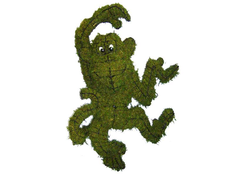 Funky Monkey Moss Topiary 30 inches Tall