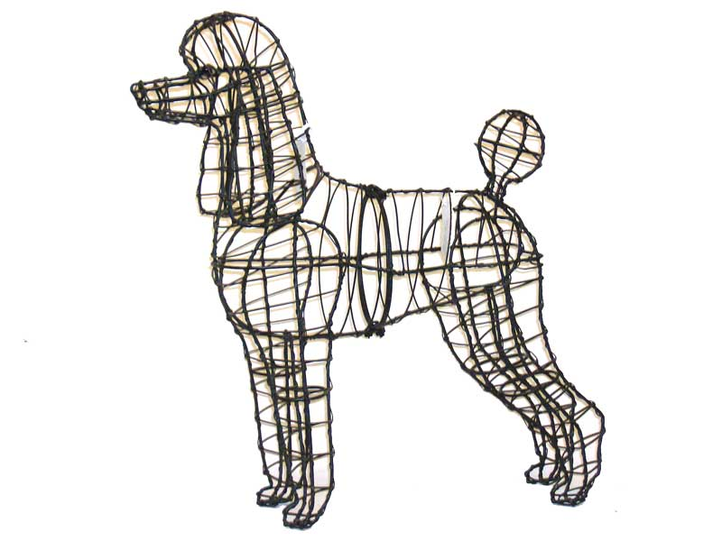 Poodle, 17 inch  (Frame) 17 inch  x 18 inch  x 9 inch