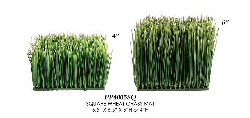 Artificial Topiary Trees, Topiary Wall, Square Wheet Grass Mat 4