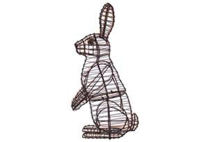 Rabbit, Sitting Upright, 13 inch  (Frame) 13 inch  x 7 inch  x 4 inch