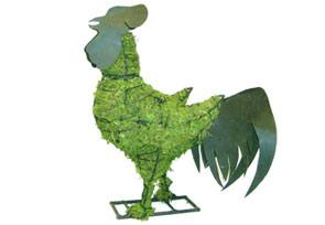 Rooster, Metal, 28 inch  (Mossed) 28 inch  x 23 inch  x 12 inch