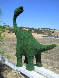 Sauropods Frame Topiary with Moss 32 inches tall