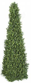 52 Inch  Plastic Boxwood Pyramid   Limited UV Protection