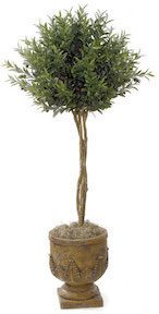 4.5 Foot Bay Leaf Single Ball Tree
