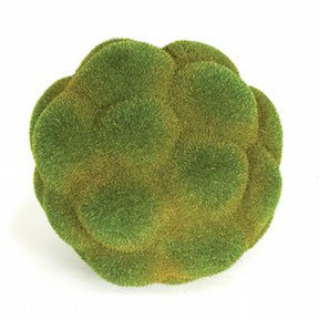 8 Inch Styrofoam Moss Ball (Green and Brown)