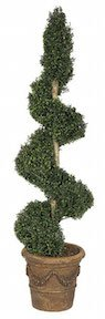 6 Foot Polycaise Spiral Topiary