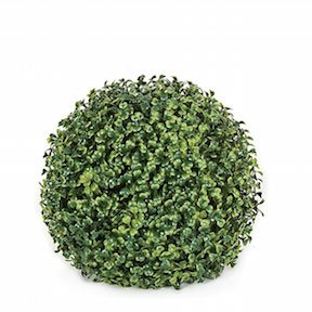 10 Inch Polyblend Plastic Boxwood Ball For Outdoor Use