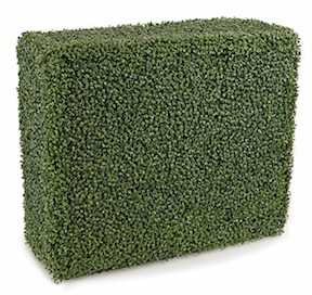36 Inch x 12 Inch x 30 Inch Polyblend Outdoor Boxwood Hedge