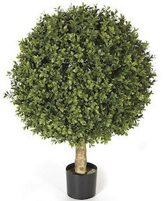 24 Inch Plastic Boxwood Ball Topiary Limited UV Protection