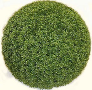 24 Inch Plastic Boxwood Ball  Green   Limited UV Protection