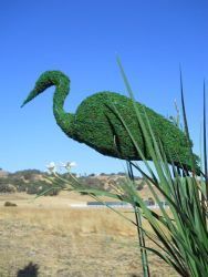 Stork Bird Moss Topiary 36 inches tall