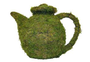 Teapot, 13 inch  (Mossed) 13 inch  x 20 inch  x 11 inch
